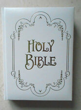 LARGE Leather Holy Bible KJV Illustrated w Religious ART MASTERPIECE Paintings