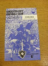 21/03/1966 Leicester City v Chelsea  (Small Piece Missing Inside).  We are pleas