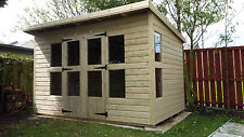 GARDEN SHED SUMMERHOUSE TANALISED HEAVY DUTY 10X6 13MM T&G. 3X2.