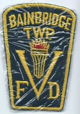 Bainbridge Township Volunteer Fire Department patch 4-1/2 X 3-1/8 X 2-1/2 #815