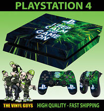 PS4 Skin Keep Calm and Game On Gamer Life Sticker + Pad decals Vinyl LAID FLAT