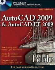 AutoCAD 2009 and AutoCAD LT 2009 Bible, Finkelstein, Ellen, 0470260173, Book, Ac