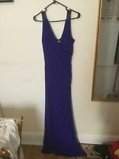 NEW Calvin Klein Purple/Black Womens Size 6 Stretch/Beaded Gown- One Of A Kind!!