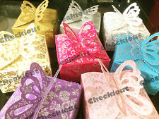 Butterfly Glitter Gift Candy Bomboniere Baby Shower Wedding Party Favor Box
