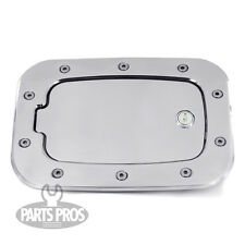 NEW Brushed Locking Gas Fuel Door / FOR FORD F250 F350 SUPERDUTY TRUCK 2011-2014