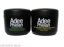 Adee Phelan Mens Hair Mud 100ml and Hair Clay - Matte Finish Firm Hold 100ml