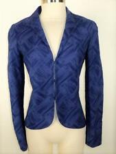 LAFAYETTE 148 Size 2 Stunning Blue Textured Cotton Blend Hi Low Blazer 2