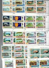 JERSEY 1970-1971 SERIE 15 VALRI NUOVI IN QUARTINE FRA.880