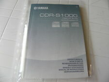 Yamaha CDR-S1000 Owner's Manual  Operating Instruction   New