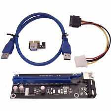 PCI-E Express x1 to x16 Adapter Extender Cable Riser Card Mining Cooling bitcoin