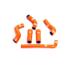 Samco Sport Coolant Hose Kit for KTM EXC 450 01-07 with Thermo 6 Pieces Orange