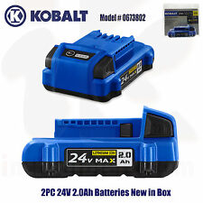 2PC New Kobalt 24-Volt 24V 2.0-Amp Hours Lithium Power Tool Battery # 0673802