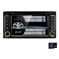 """6.2"""" Touch UI Car Stereo 2 DIN Radio CD DVD Player USB GPS Navigation for TOYOTA"""