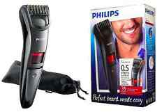 PHILIPS QT4015 Mens Cordless BEARD TRIMMER w/TITANIUM Blades + POUCH *NEW*
