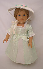 "Doll Clothes AG 18"" Elizabeth's Colonial Dress Made To Fit American Girl Dolls"
