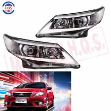 Headlight LED Halo Projector Headlights Headlamp For 2012 2013 2014 Toyota Camry