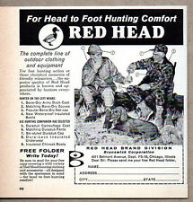 1960 Vintage Ad Red Head Brand Hunting Clothes Hunters,Dog Chicago,IL