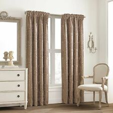 "Valeron Glenview Rod Pocket with Pencil Pleat 95"" Window Curtain Panel in Mocha"