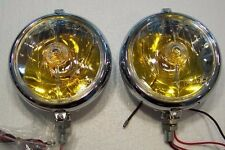 Marchal Fog Lights 672/682, Amber colored 12 volt bulbs, new reproductions, pair