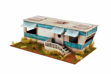Retro Americana Residential Trailer 28mm Laser Cut MDF Building P001