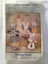 Workshoppe Originals Wood & Fabric Craft Patterns Barnyard Block Party 6-11""
