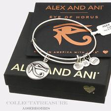 Authentic Alex and Ani Eye of Horus (iii) Rafaelian Silver Charm Bangle