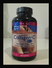 NeoCell Super Collagen +C Type1&3 6000mg 250 tablets Anti Aging Skin Care Beauty