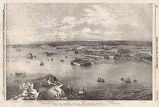 1854 CRONSTADT FROM THE NARROW PART OF THE CHANNEL NEAREST ST PETERSBURG