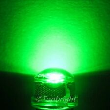 30 PCs 1W 8mm 140° StrawHat Green LED 220,000mcd@300mA