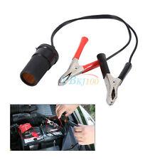 Cigarette Lighter Socket to Car Battery Pump Alligator Clip Charger Cable 12V