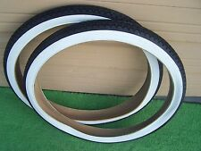 2  BICYCLE  TIRES 26 X 2.125 WSW ALSO FITS VNTG SCHWINN S-2 RIMS 40 PSI