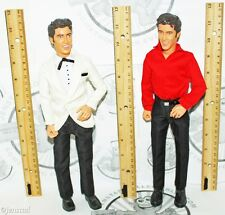 "2 LOT ELVIS PRESLEY TALKING 12"" FIGURE DOLL WHITE SUIT & RED/BLK OUTFIT ""NO BOX"""