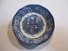 "Staffordshire Liberty Blue Fruit Dessert Bowl s 5"" Betsy Ross"