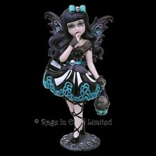 *ADELINE* Little Shadows Goth Girl Fairy Art Resin Figurine By Nemesis Now  16cm