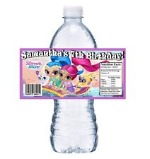 20 SHIMMER and SHINE PERSONALIZED BIRTHDAY PARTY FAVORS WATER BOTTLE LABELS