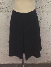 Ladies ZARA Basic Charcoal Kick Pleat Knee Length SKIRT BNWT M UK 10 cb