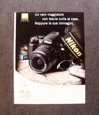 [GCG] I534 - Advertising Pubblicità - NIKON D 60 , UN VERO VIAGGIATORE