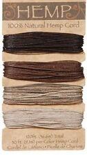 Earthtone Colors 100% Natural  20lb Hemp Cord Set 120ft
