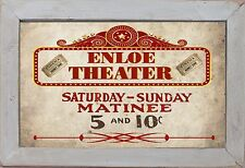 Personalized Home Theater Matinee Movie Cinema Home Decor Rec Room Wall Art Sign