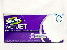 Swiffer WET JET 12 Count Pad Refills Flocr Wipping Cleaning Washing Mopping Pads