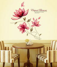 Wall Stickers Flowers Blossoms Sofa Background Living Room Beautiful Pink Colour