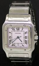 Cartier Santos 987901 high fashion SS quartz men's watch w/ sapphire crown