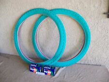 [2] 26''x 2.125'' BEACH CRUISER  GREEN BICYCLE TIRES AND [2]TUBES FOR CRUISERS