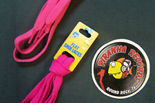 "Hot Pink Thin Flat 36"" x (3/8""-5/8"") JN Shoelaces Shoe Strings Piranha Records"