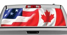 Truck Rear Window Decal Graphic [American Pride, Canada] 20x65in DC86504