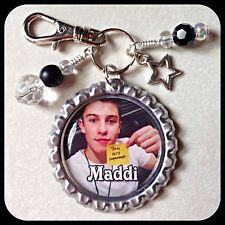 Personalized SHAWN MENDES Bottle Cap Pendant, Name Necklace Jewelry, Zipper Pull