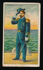 1910 T81 Recruit Little Cigars MILITARY SERIES (NON Die-Cut) -Commander-Navy
