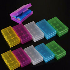 10pcs Portable Plastic Battery Case Holder Storage Box For 2x 18650 16340 CR123A