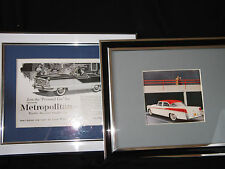 2 Framed pictures – 1956 Chrysler Windsor, and Rambler Metropolitan – Ref 600
