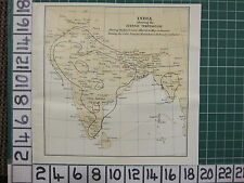 1926 INDIA INDIAN TOURIST MAP ~ INDIA AVERAGE TEMPERATURE HOT & COLD SEASONS